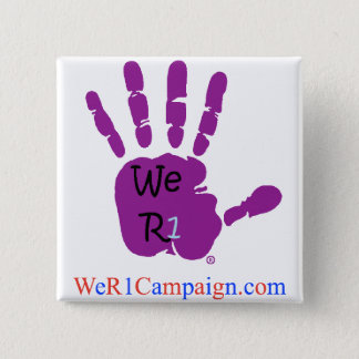 We R1 Purple Hand Button