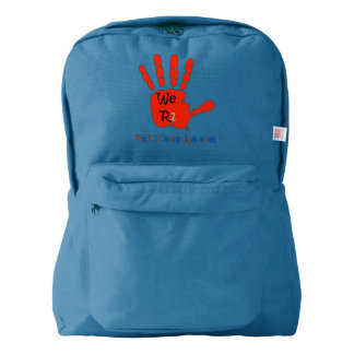 We R1 Red Hand Backpack