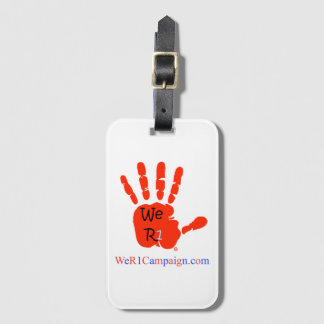 We R1 Red Hand Luggage Tag