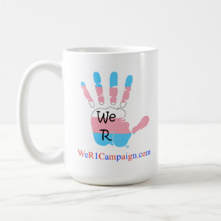 We R1 USA Rainbow Mug - Transgender