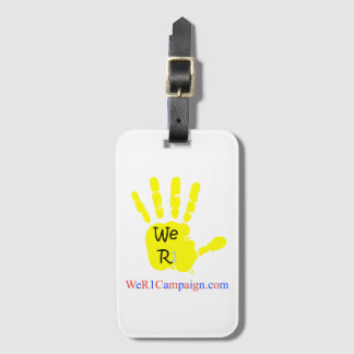 We R1 Yellow Hand Luggage Tag