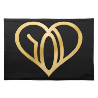 WE R LOVE - logo - applied Heart Placemat