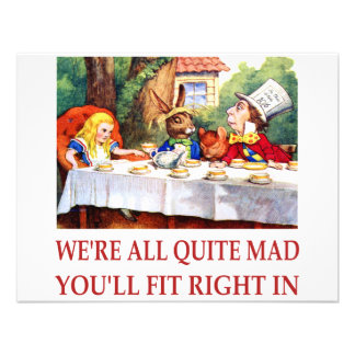 WE RE ALL QUITE MAD YOU LL FIT RIGHT IN CUSTOM INVITATIONS