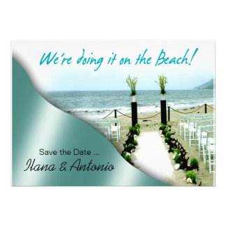 We re doing it on the Beach Save the Date Announcements