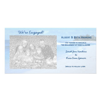 We re Engaged Blue Ocean Photo Cards
