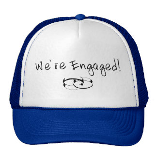 We re Engaged Rings Mesh Hats