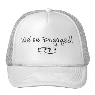 We re Engaged Rings Trucker Hats