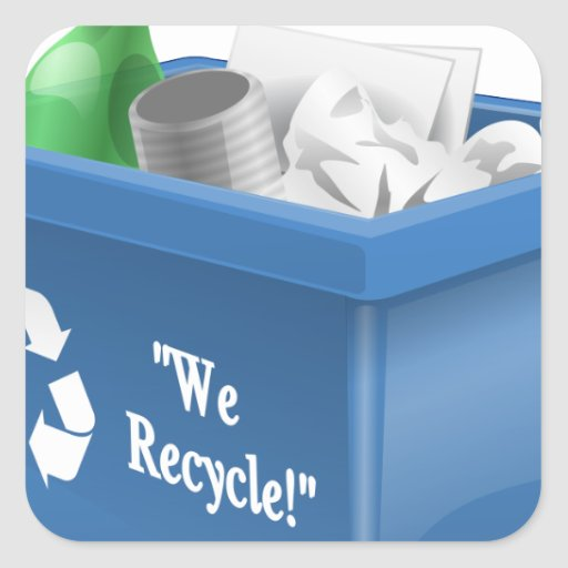 We Recycle Sticker