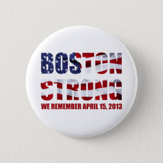We Remember Boston 6 Cm Round Badge
