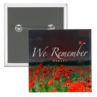 We Remember Remembrance Day Button