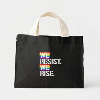 We Resist We Rise - - LGBTQ Rights -  -  Mini Tote Bag