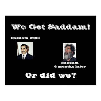 We Saddam! or did we? Postcard
