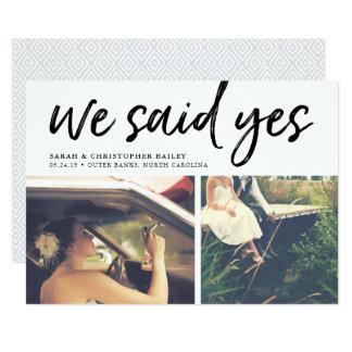 We Said Yes | Photo Wedding Announcement