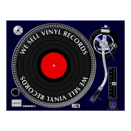 WE SELL VINYL RECORDS POSTER