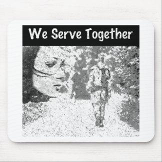 We Serve Together Mouse Pad