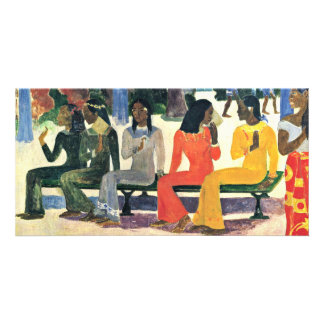 We Shall Not Go To The Market Today By Gauguin Customized Photo Card