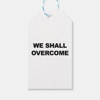 WE SHALL OVERCOME GIFT TAGS