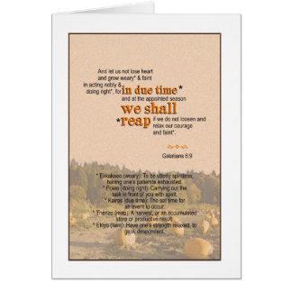 We Shall Reap - Galatian 6:9 Card