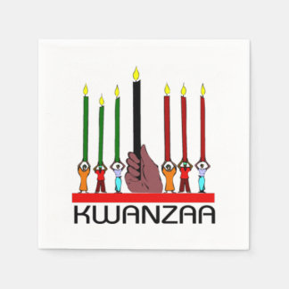 We Stand Tall Kwanzaa Party Paper Napkins