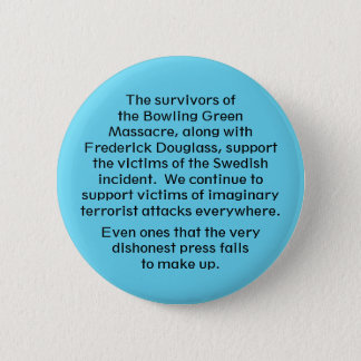 We stand with them 6 cm round badge