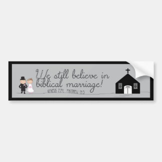 We Still Believe Bride & Groom Bumper Sticker