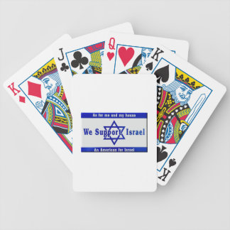 We Support Israel Bicycle Playing Cards