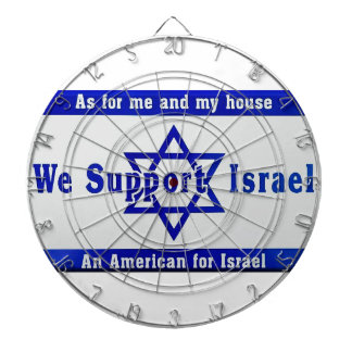 We Support Israel Dartboard