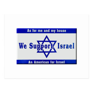 We Support Israel Postcard