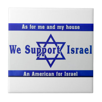 We Support Israel Small Square Tile