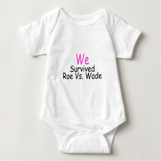 We Survived Roe Vs. Wade (pink) Baby Bodysuit