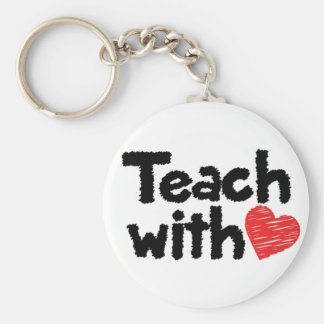 We teach with heart! keychain