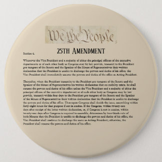 We the People 25th Amendment Constitution Resist 6 Cm Round Badge