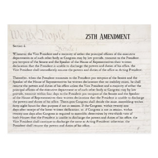 We the People 25th Amendment Constitution Resist Postcard