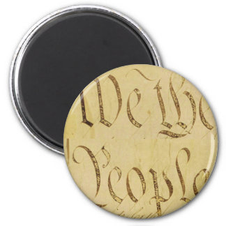 We The People 6 Cm Round Magnet