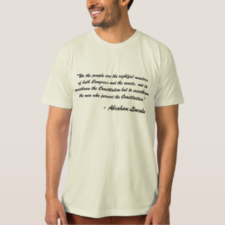 We the people...Abraham Lincoln Quote Organic Tee