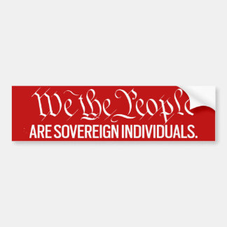We The People Are Sovereign Stickers