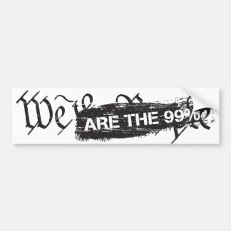 We The People Are The 99 Percent Bumper Sticker