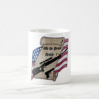 ( We The People ) Article 1 2nd Amendment Guns and Basic White Mug