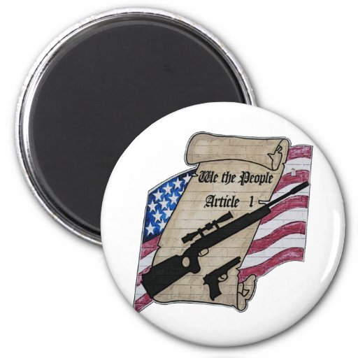 ( We The People ) Article 1 2nd Amendment Guns and Refrigerator Magnet
