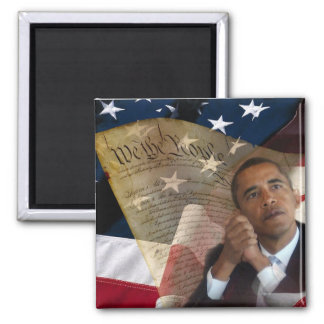 We the People...Barack Obama & the Constitution Square Magnet