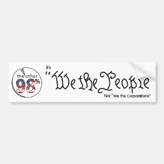 """We the People"" Bumper Sticker"