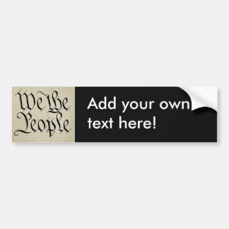 We the People! Bumper Sticker