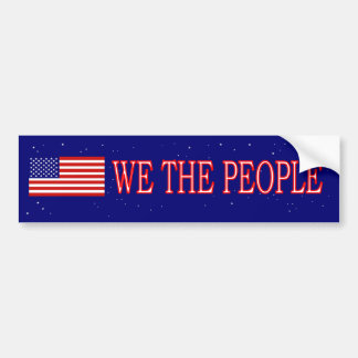 We The People Bumper Sticker Us Flag