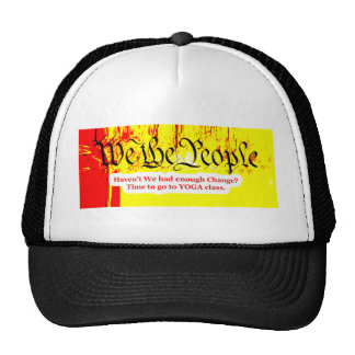 We The People Change YOGA The MUSEUM Zazzle Gifts Hat