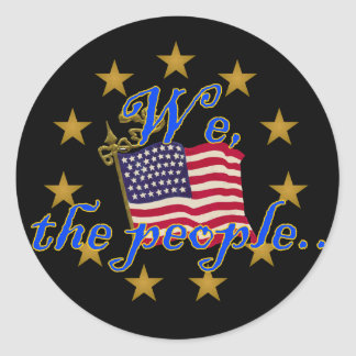 We, the People Classic Round Sticker