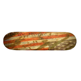 We The People constitution skate deck