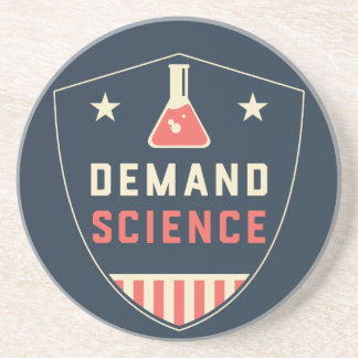 We the People Demand Science in America Beverage Coaster