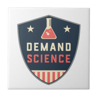 We the People Demand Science in America Small Square Tile