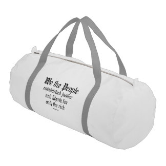 We the people establish justice and liberty gym duffel bag