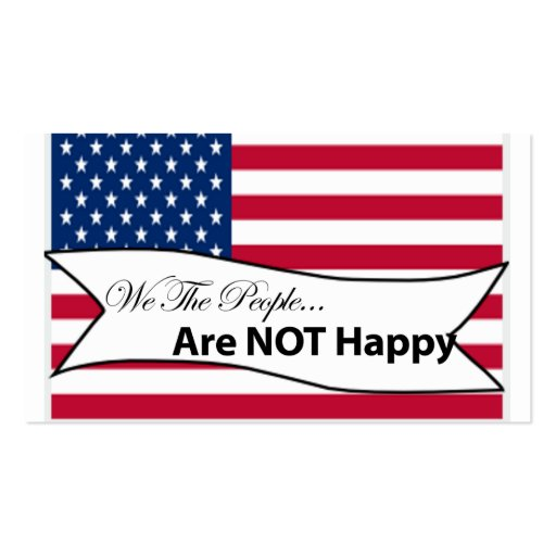 We The People Flag Business Cards